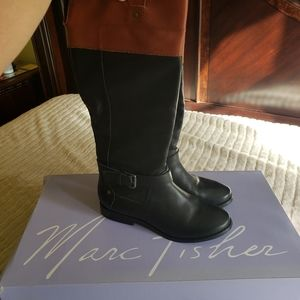 Marc Fisher multi leather long boots size 7.5